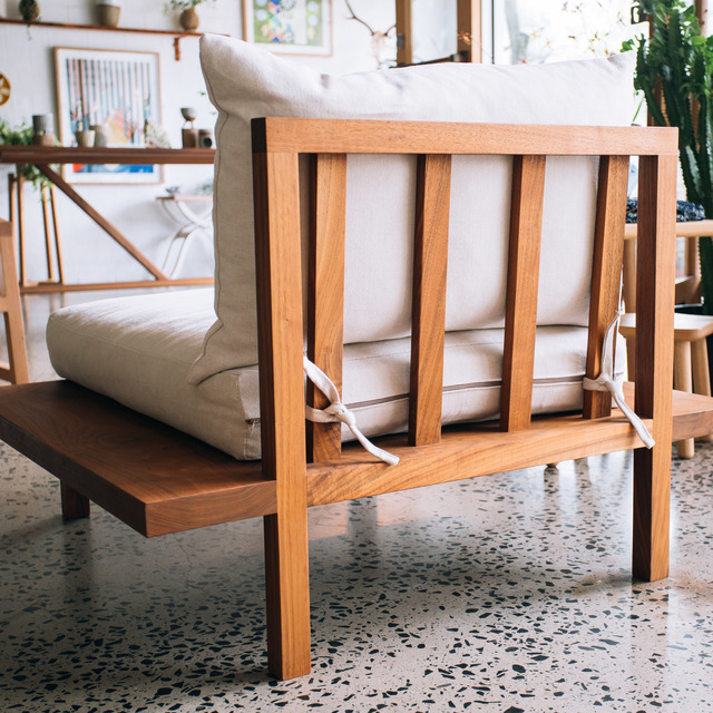 Finley Sofa by Jeremy Lee - Sofa, Armchair, Walnut, Velvet, Sustainable, Cotton, Linen, Wood, Timber, Jdlee