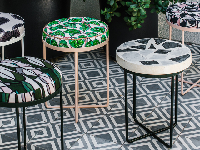 Edra Stool by Sarah Kalidis - Edra Stool, Upholstered Stool, Ottoman, Textile Design, Dining Stool, Occasional Stool, Seating, Low Stool