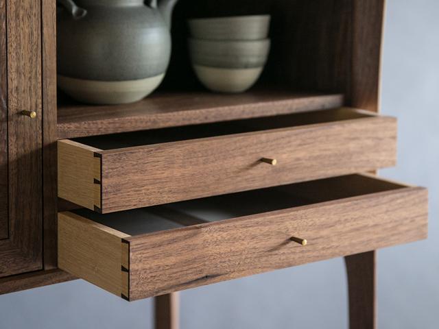 Perch Cabinet by Reuben Daniel - Cabinet, Shaker, Walnut, Mid Century