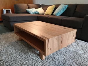 Hawthorn coffee table by Brett Julian - Coffee Table, Modern, Feature Grain, Splayed Leg, Mitres