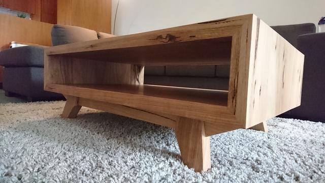 Hawthorn coffee table by Brett Julian - Coffee Table, Modern, Feature Grain, Splayed Leg, Mitres