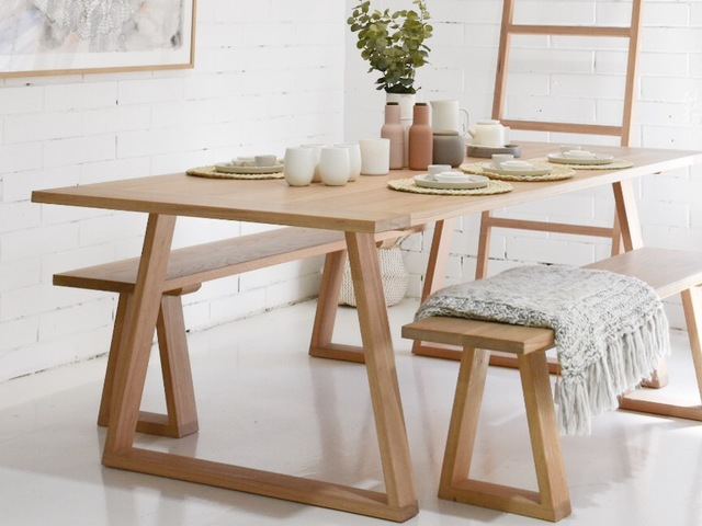 Stark Dining Table  by RAW Sunshine Coast  - Table, Dining Table, Timber Table, Dining Room