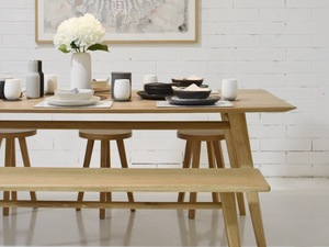 Austin Dining Table  by RAW Sunshine Coast  - Dining Table, Timber Table, Table, Custom Table, Oak Table, Scandi, Custom Furniture, Sunshine Coast, Queensland, Furniture Maker