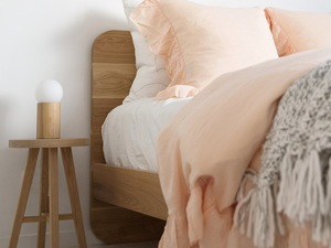 Inka Bed Frame  by RAW Sunshine Coast  - Bed, Bedroom, Timber Bed, Scandi, Australian Made, Bedding, Bedroom Styling