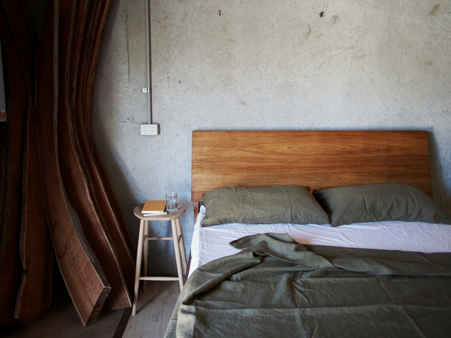 Tall Bed by Reuben Daniel - Tasmanian Blackwood, Bedframe, Bedhead, Bedroom