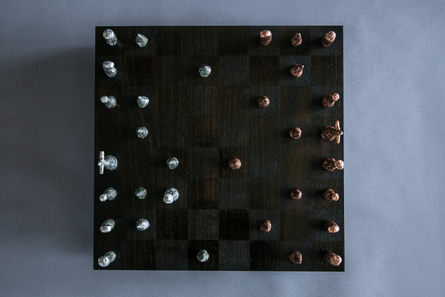 Oscura Chess Set by Reuben Daniel - Sand Cast, Chess Set, Chessboard, Chess Board