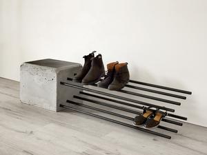 Cantilever Shoe Rack by Stance Studio - Shoe Rack, Brutalist, Cantilver, Outdoor, Indoor, Architectural