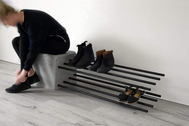 Cantilever Shoe Rack by Stance Studio - Shoe Rack, Brutalist, Cantilver, Outdoor, Indoor, Architectural