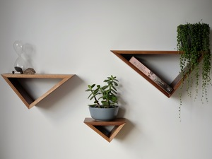 Triangular Floating Shelves by Harelle Design - Shelves, Floating Shelves