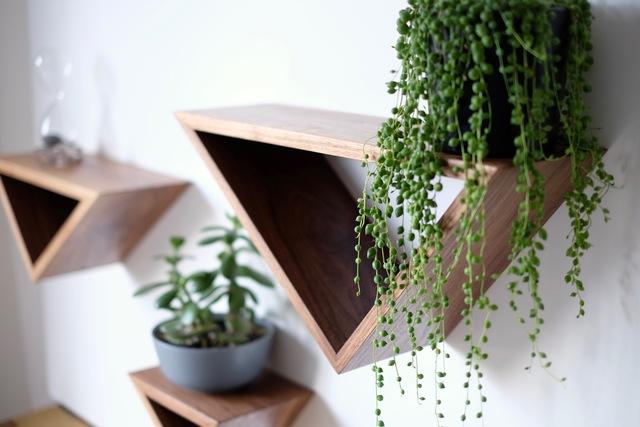 Triangular Floating Shelves by Harelle Design - Shelves, Floating Shelves
