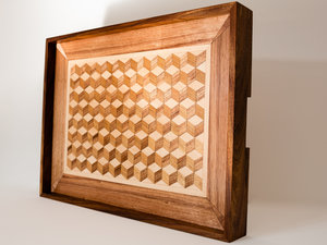 Parquetry Serving Tray by Harelle Design - Serving Tray, Parquetry, Tray