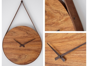 Round Clock by Harelle Design - Clock, Wall Clock, Blackwood