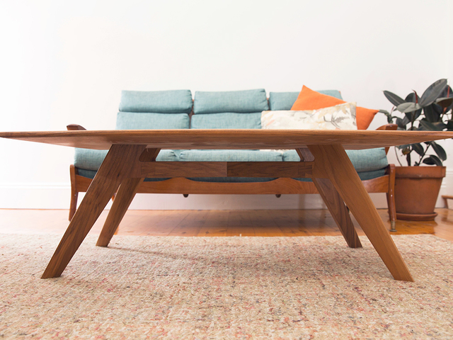 Time Traveller coffee table by Ruben Made - Coffee Table, Mid Century, Plywood, American Walnut, Sustainable, Hand Made
