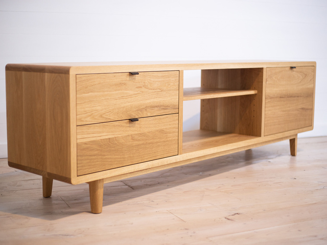 Mayfield American White Oak Entertainment Unit by Retrograde Furniture - American Oak, Entertainment Unit, Sideboard