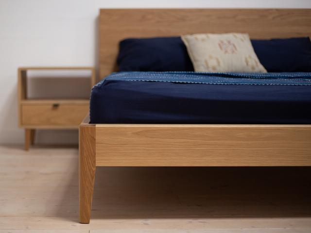 Mayfield American White Oak Bed by Retrograde Furniture - American Oak, Bed