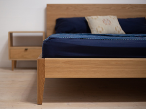 Mayfield American White Oak Bed by Retrograde Furniture - American Oak, Bed