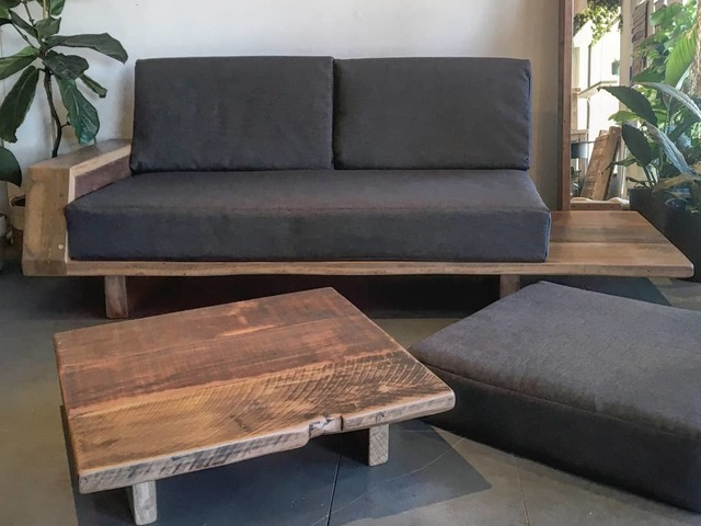 Lounge with chaise by Mitch Bourdeau - Reclaimed Timber, Recycled Timber Furniture