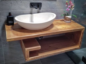 Reclaimed timber vanity by Mitch Bourdeau - Reclaimed Timber Furniture, Recycled Timber Furniture