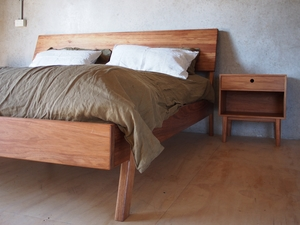 Low Bed by Reuben Daniel - Bed, Bed Frame, King, Queen, Double, Bedroom