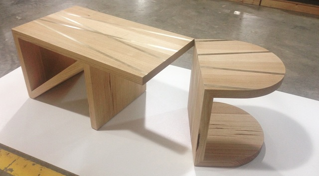 Binario coffee table by Giorgia Pisano - Tasmanian Oak, Handmade