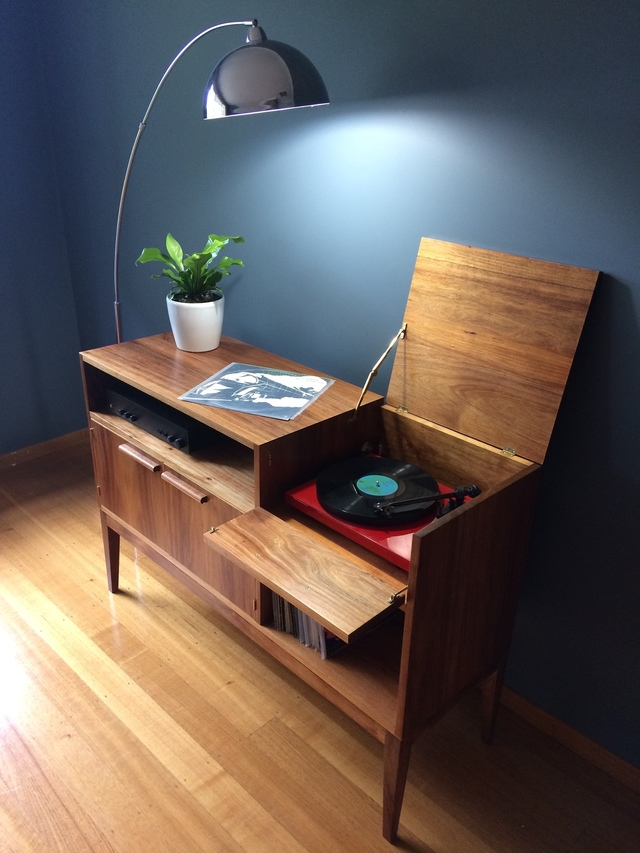 Record Player unit  by Ross Thompson - Vinyl Storage, Record Player Unit, Vinyl, Records, Hifi Unit, Sideboard, Sidetable, Display Unit, Record Player, Radiogram