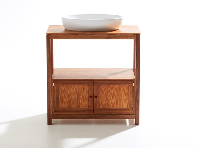 Genoa Vanity by Stivanello Bespoke - Bathroom Furniture, Timber Vanities, Bespoke Bathroom Furniture, Tasmanian Blackwood