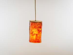 Porcelain Pendent by Sarah Tracton - Handmade Light, Porcelain, Ceramics, Hand Constructed, Melbourne Made, Bespoke, Artisan Lighting