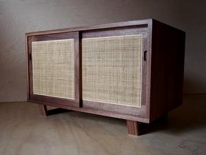 Weave Bedside by Reuben Daniel - Rattan, Cane, Nakashima, Cabinet, Side Table
