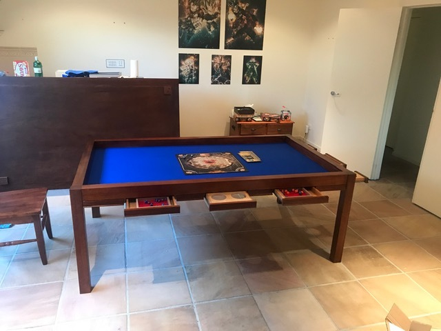 Convertible games/ dining table by Andrew Alstin - Games Table, Dining Table Combination