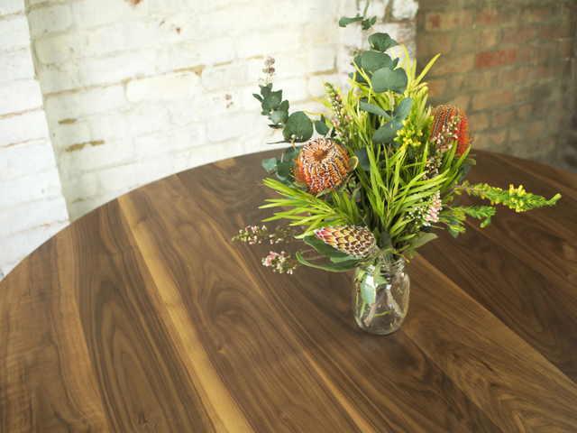 Anisha by Lloyd Brooke - Round Dining, American Walnut, Handmade, Melbourne Maker, Melbourne, Preston, Hardwood, Dining, Designer, Bespoke