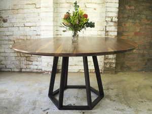 Anisha by Lloyd Anderson - Round Dining, American Walnut, Handmade, Melbourne Maker, Melbourne, Preston, Hardwood, Dining, Designer, Bespoke