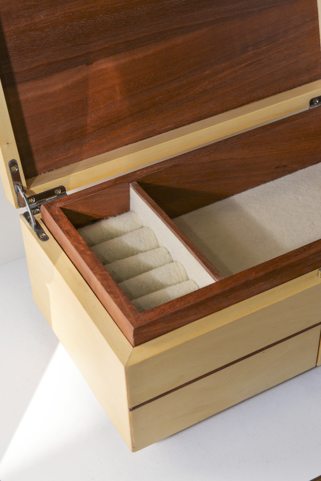 Jewelery Box by Remy Tramoy - Jewelery, Box, Handcut Dovetails, Huon Pine, Precious