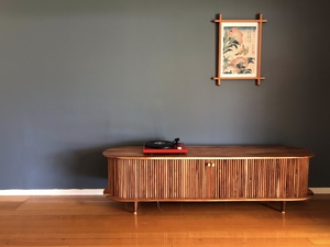 Media Cabinet by Ross Thompson - Tv Unit, Media Cabinet, Record Cabinet, Vinyl Storage, Sliding Door, Entertainment Unit, Record Collection, Mid Century, Contemporary, Modern