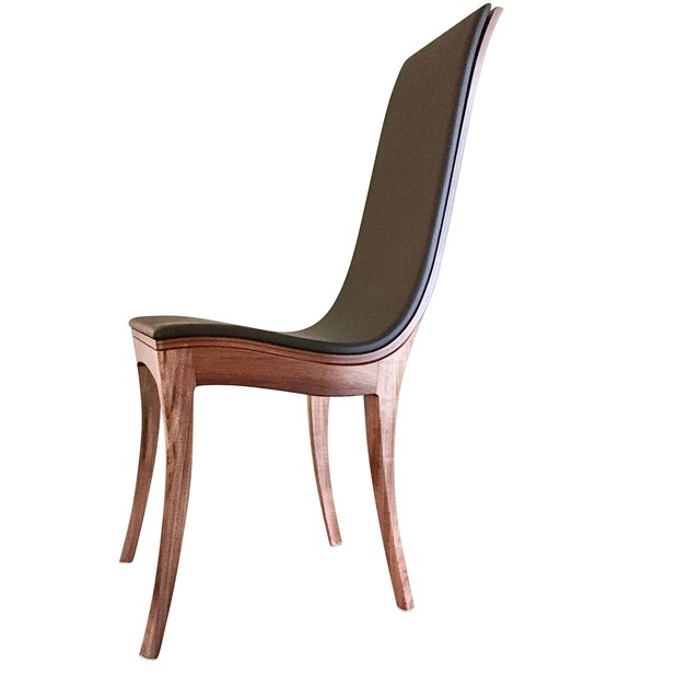 Vine Dining Chair | Contemporary Designer Solid Timber Chair by Will Marx - Solid Timber, Australian Timber, Custom Made, Minimalist, Contemporary, Dining Chair, Chair With Upholstery, Office Chair, Mid Century, Hardwood