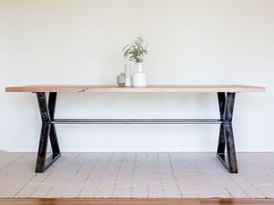 Northshore Dining Table by Hold Fast Designs - Dining Table, Recycled Timber, Furniture Design, Bespoke Furniture, Metal & Timber, Industrial Style