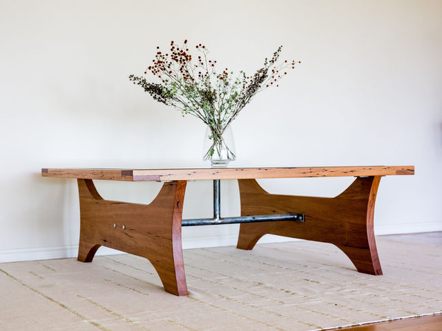 The Major Coffee Table by Hold Fast Designs - Coffee Table, Recycled Timber, Bespoke Furniture, Furniture Design