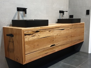 Bathroom Vanity by Hold Fast Designs - Bathroom Vanity, Recycled Timber, Bespoke Furniture, Designer Bathroom