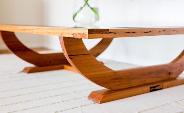 The Daintree Coffee Table by Hold Fast Designs - Coffee Table, Recycled, Reclaimed, Messmate, Glass