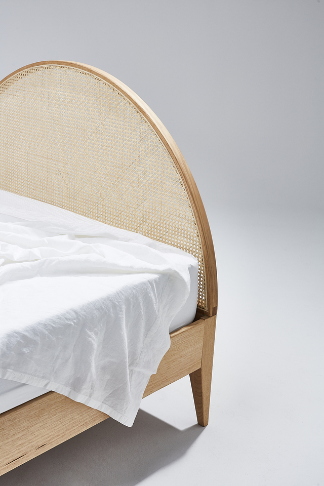 Lenny Bed by Heimur - Bed, Bedframe, Rattan, Bentwood, Bed Frame