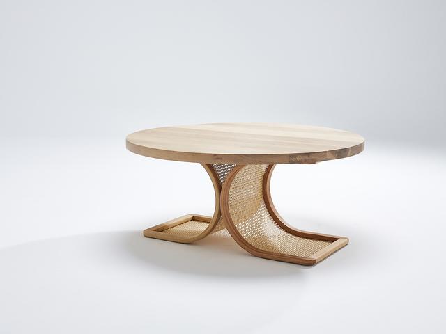 Amalia Coffee Table by Heimur - Coffee, Table, Rattan, Bent, Oak, American