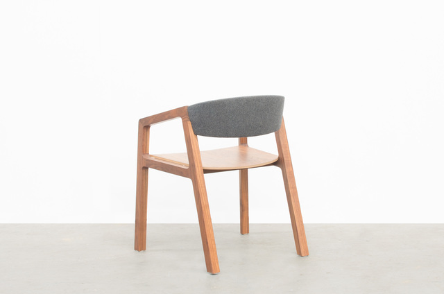 Shawn Dining Chair by Matt Pearson - Dining, Chair, Timber, Walnut, Study, Desk, Fabric, Upholstered