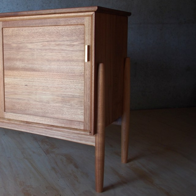 Record Cabinet by Reuben Daniel - Record Cabinet, Music Cabinet, Media Unit, Tasmanian Blackwood