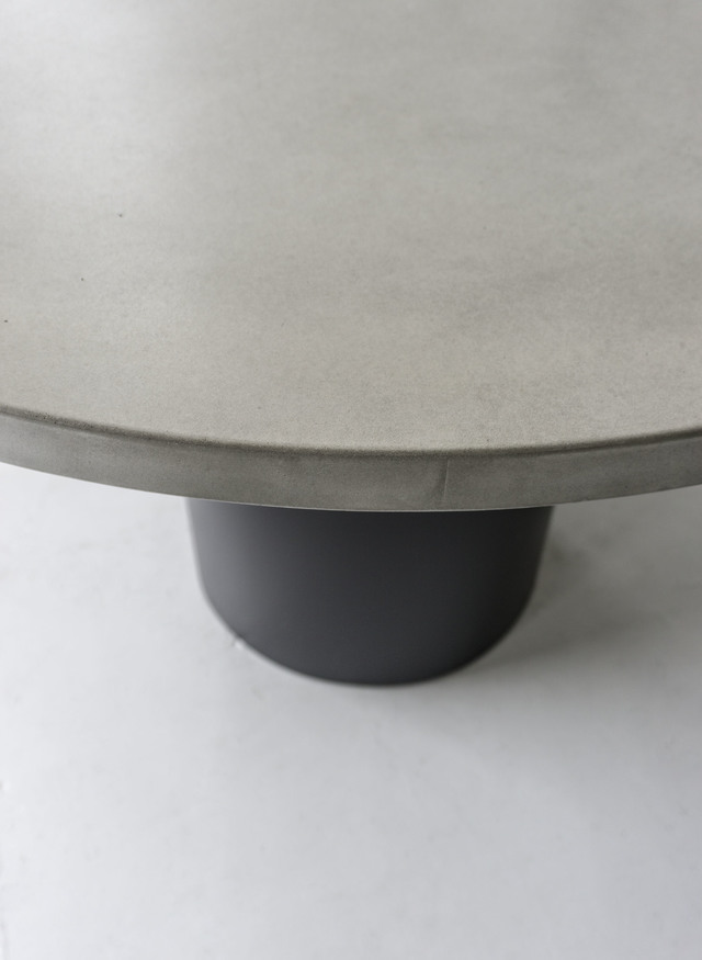SLABS by Design | Cooper Round Concrete Dining Table by SLABS by Design - Concrete, Concrete Dining Table, Round Dining Table, Concrete Outdoor Table, Outdoor Furniture, Steel Dining Table, Industrial Furniture, Minimalist Furniture, Hand Made