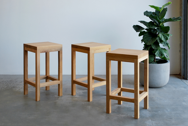 Block Stools by Raw Edge Furniture - Stools, Oak, French Oak, Bar Stool, Bench Stool, Chairs, Kitchen, Kitchen Bench