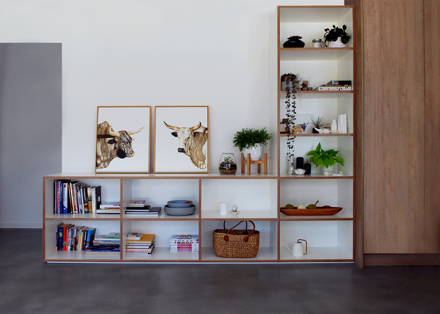Built In Storage by Raw Edge Furniture - Custom Built, Cabinetry, Plywood, Formply, Shelving, TV Unit, Study, Desk, Hallway Unit, Built-In Storage