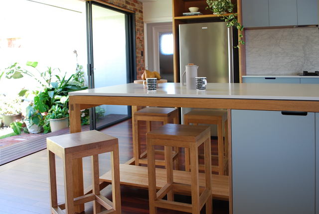 Block Stools by Raw Edge Furniture - Stools, Oak, French Oak, Bar Stool, Bench Stool, Chairs, Kitchen, Kitchen Bench