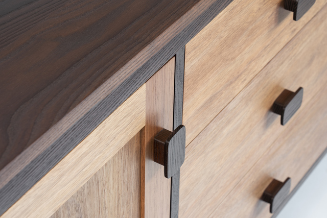 Cambia Ash and Blackwood Sideboard by Eco wood design - Sideboard, Contemporary, Blackwood, Dovetailed Drawers