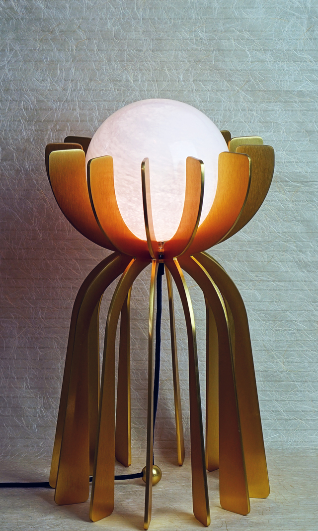 Stella - Table Lamp by ilanel design studio - Lighting, Luxury Lighting, Handmade, Custom Made, Brass, Glass, Gold