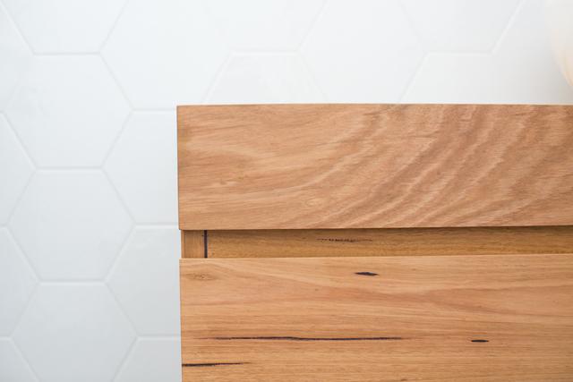 Avoca Floating Timber Bathroom Vanity by Bombora Custom Furniture - Vanity, Floating Vanity, Timber Vanity, Custom Vantiy, Solid Timber Vanity, Wall Hung Vanity, Bathroom Vanity, Bespoke Vanity, Recycled Timber Vanity, Avoca Vanity