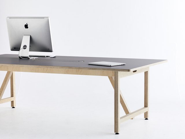 Rover Team Table by So Watt - Plywood, Laminate Surface, Desk, Team Table, Office, Fenix Ntm, Workplace